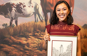 Lizzy Tan wins Outstanding Student Award