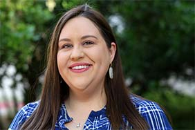Jennifer Manna joins the Latino Studies team. Photo Credit: Lizzie Choffel