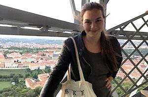 Greta Unger in Prague