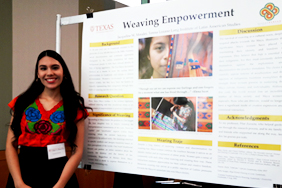Graduating Senior Jacqueline Morales Is Honored at Dean's Research Reception