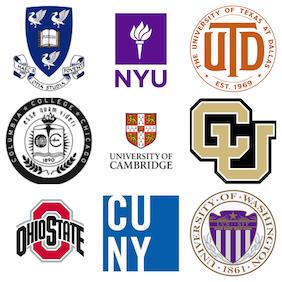 College/university logos