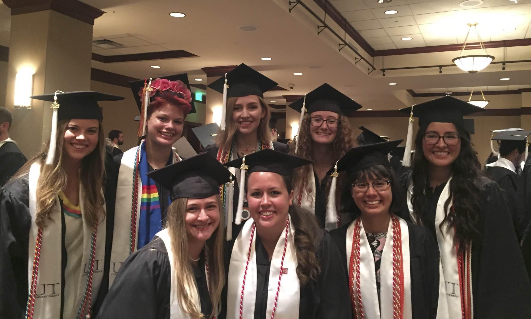 Humanities Students at Graduation