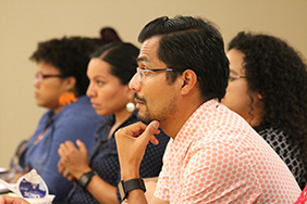 Advanced doctoral students participated in intensive day-long sessions all week