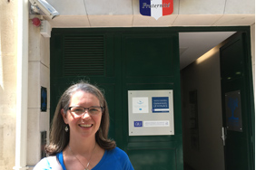 Isabelle Headrick at the AIU Archives in Paris, France.