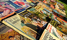 Vintage Romance Novels, photo by Stephen Coles, flickr