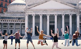 Students from the 2018 Maymester in Rome. Image by Sydney Arceneaux.