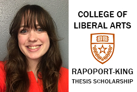 Ashleigh Pearce, winner of the 2018-19 Rapoport-King Thesis Scholarship