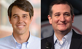 Official campaign photo of Beto O'Rourke (left) and U.S. Sen. Ted Cruz (right) photo by Gage Skidmore.