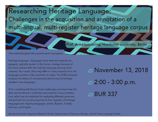 A talk on heritage language varieties and their differences from varieties in the country of origin