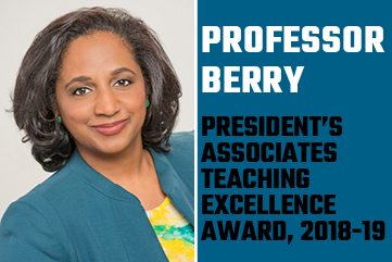Daina Ramey Berry wins President's Associates Teaching Excellence Award
