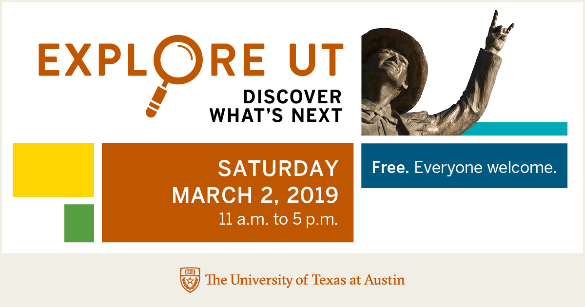 Join the Psychology Department at Explore UT this Saturday, March 2!