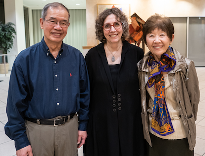 Dr. Judith Farquhar pictured with Dr. Paul & Mary Ho
