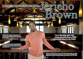Joynes Speaker Series: Jericho Brown, 4/15