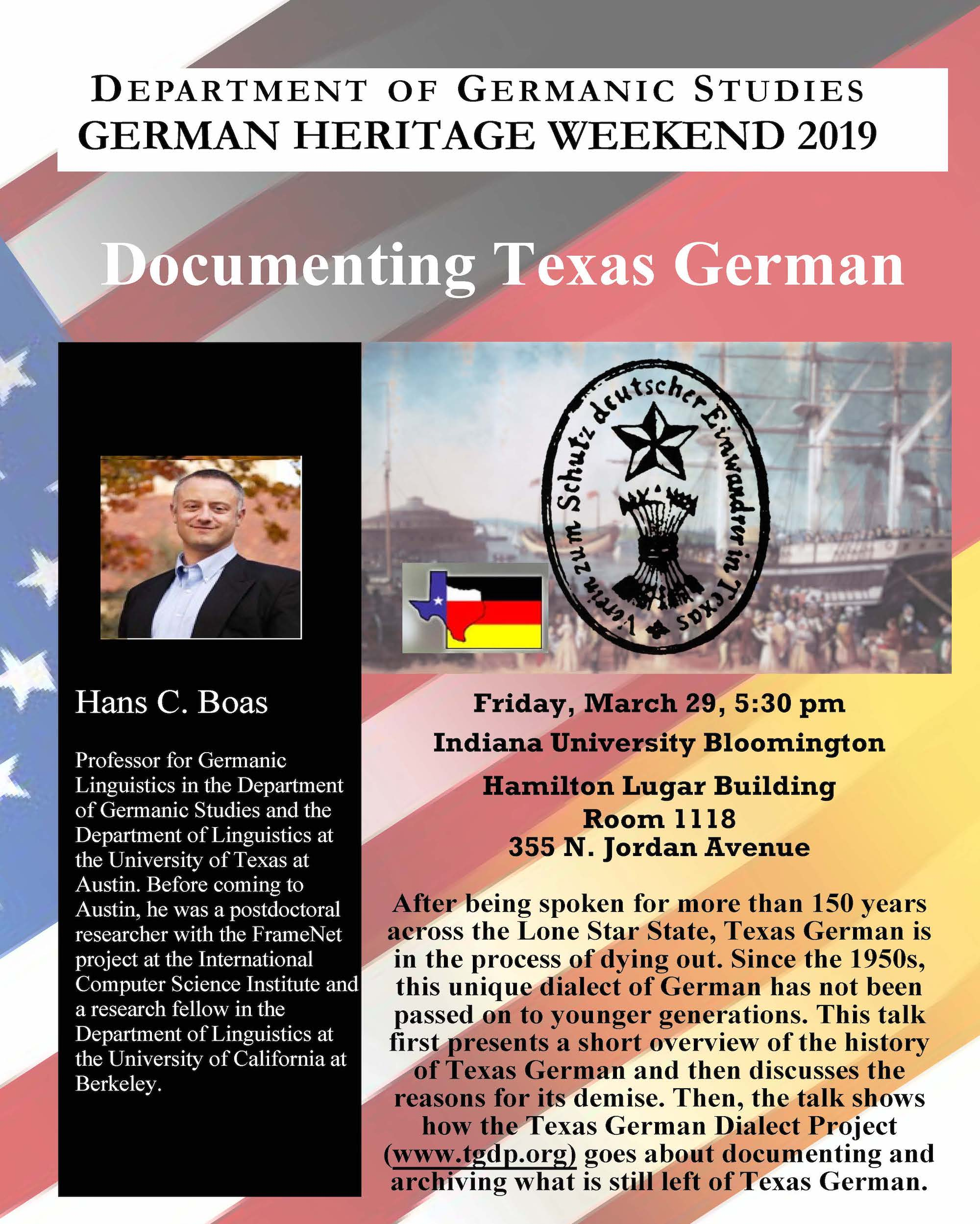 Texas German heads to Indiana