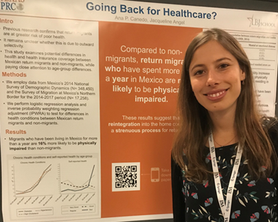 "Ana Canedo's Poster ""Going Back Home for Health Care"" Wins PAA Award"
