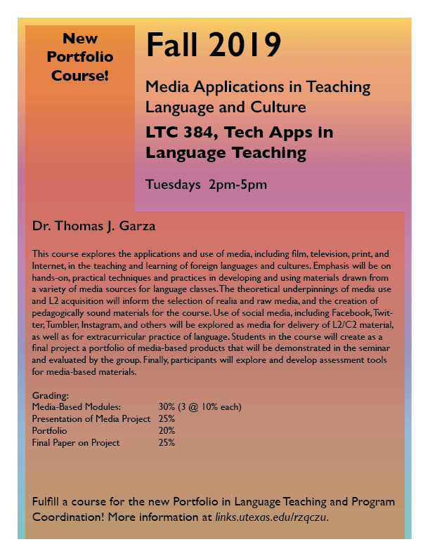 New LTC Portfolio course offered in Fall 2019!