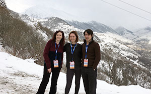 Armenia election observation team in mountains