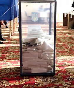 Ballot box in Ukraine