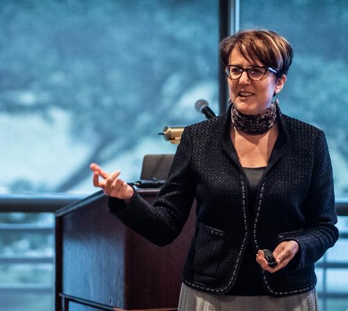 Dr. Lynn Harter, Ohio University (Photo by Daniel Cavazos)