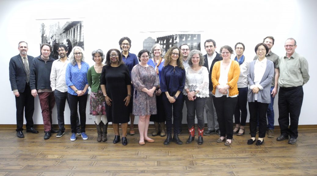 Spring 2019 Faculty Fellows with visiting lecturer, Dr. Emily Greenwood, and guests