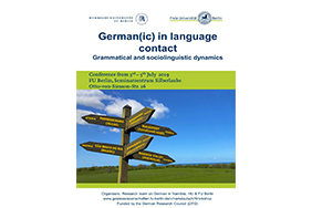 Dr. Boas, Dr. Pierce, and Graduate Student Margo Blevins Gave Talks at Workshop German(ic) in Language Contact at the Free University of Berlin