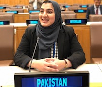 Khadeja Javed, double-major in MES and IRG, completed internship at Pakistan Permanent Mission to the United Nations