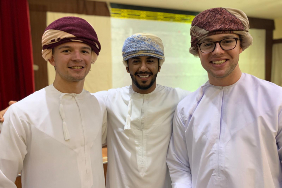 Will Clough, MES and IRG double-major, studied abroad in Oman on a Critical Language Scholarship