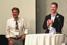 Dan Brinks receiving 2019 Pritchett Award