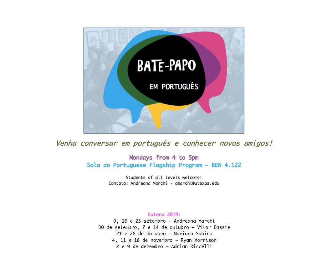Bate Papo (Come practice Portuguese)!