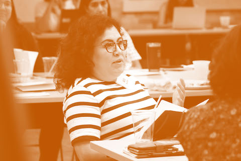 Latino Studies Researcher, Alice P. Villatoro contributes to the discussion on how researchers across campus can collaborate on research relating to Latino communities.