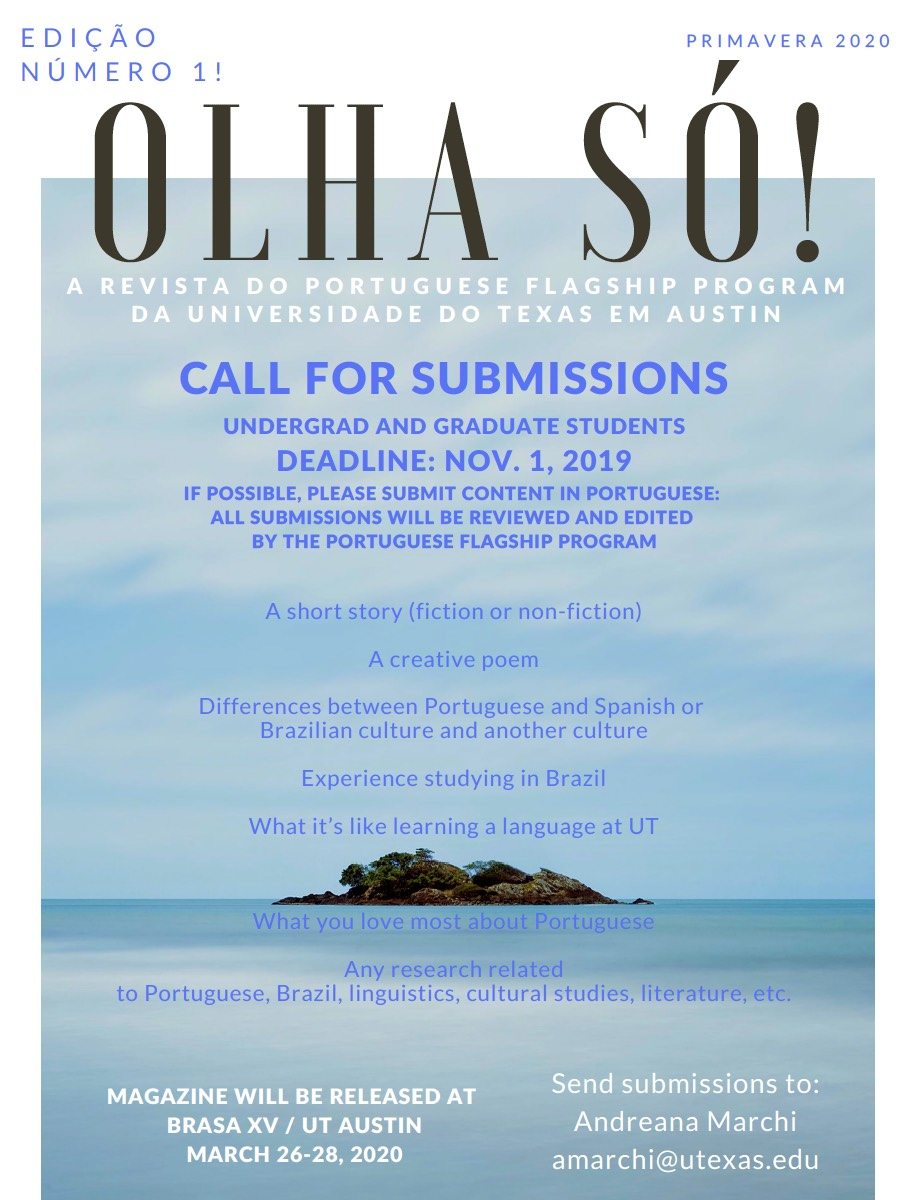 Call for Submissions: Olha Só!