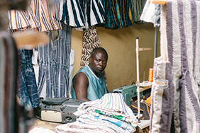 A smock maker in Tamale, northern Ghana.
