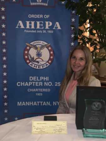 UT Graduate Student Michele Mitrovich honored by the American Hellenic Educational Progressive Association (AHEPA)