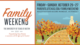 Plan II Family Day, 10/27. Registration 10/7 - 10/18