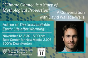 The Uninhabitable Earth: A Conversation with David Wallace-Wells, 11/12