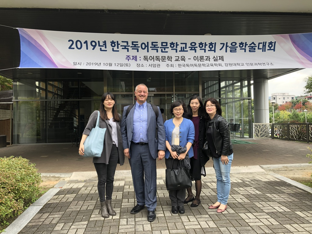 Dr. Hans Boas Presented Plenary Lecture at the Semi-Annual Meeting of Korean Society for the Didactics of German Lit and Language at Kangwon Nathional University