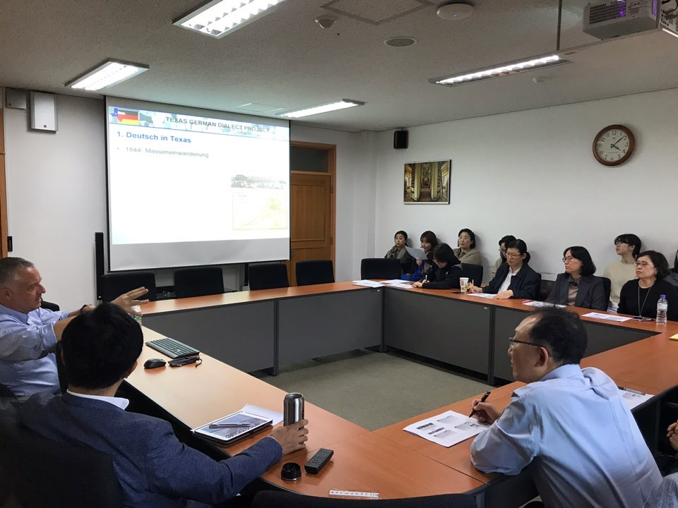 Dr. Hans Boas Presents at the Institute for German Studies at Seoul National Unviersity