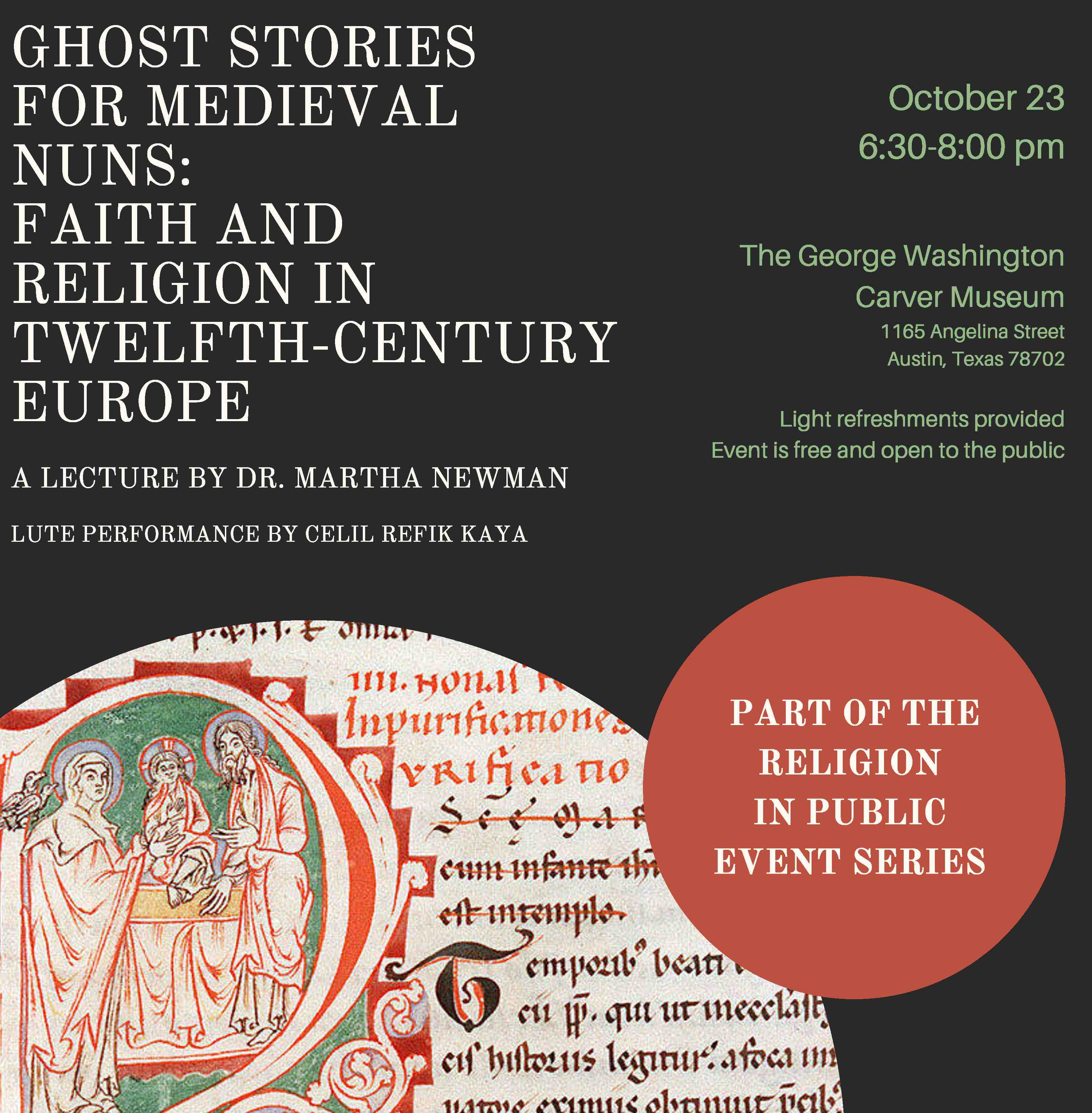 Dr. Martha Newman Gives Talk on Ghost Stories for Medieval Nuns