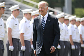 When asked whom they want as the Democratic nominee, the majority (23%) of likely Texas Democratic presidential primary voters chose Joe Biden. (Photo by Tommy Gilligan/USMA Public Affairs)