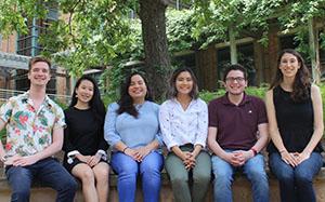 CRC lab managers (l to r): Cole Dougherty, Shirlyn Sia, Lauren Rosa, Kim Nguyen, Karlos Ramos, Emily Algert