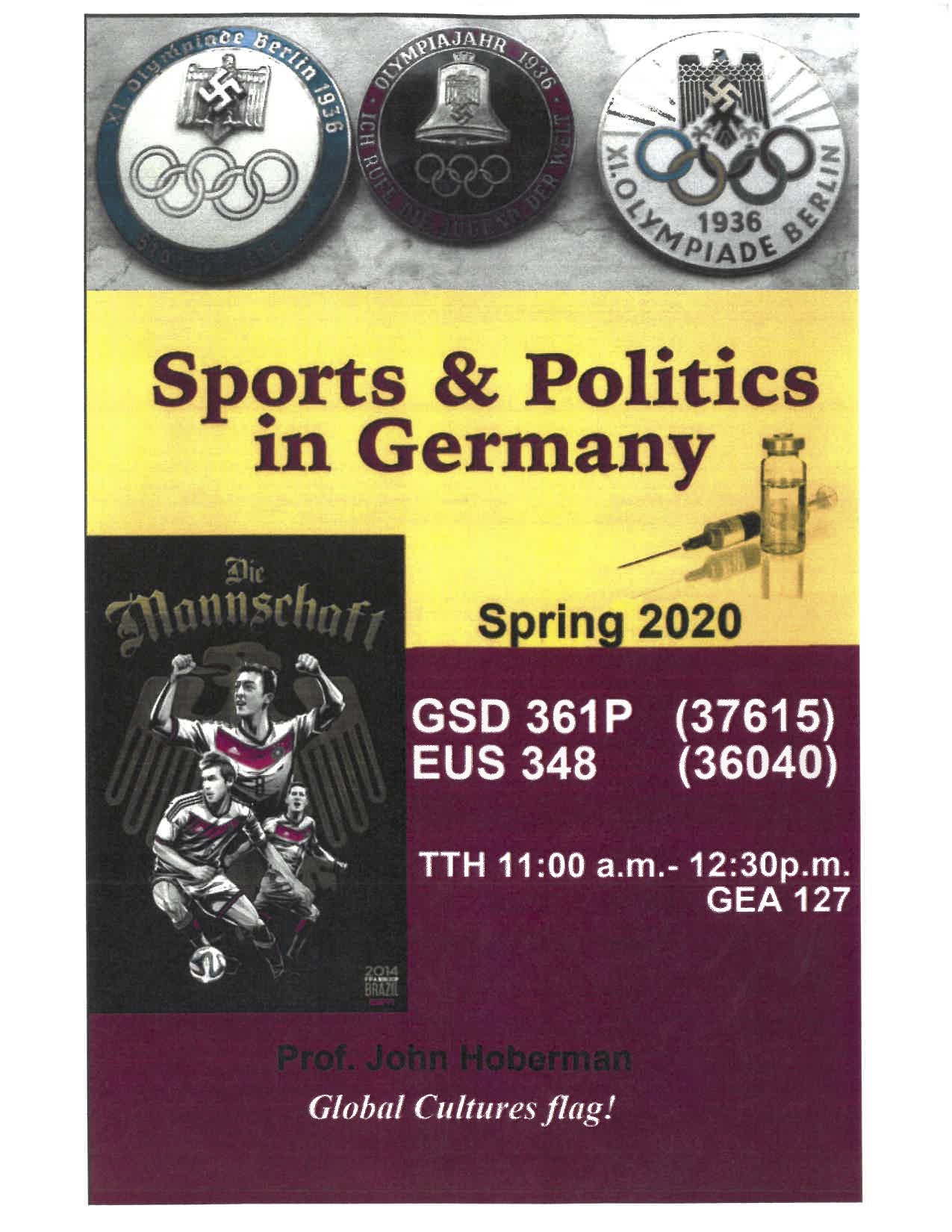 Spring 2020 course: Sports and Politics in Germany