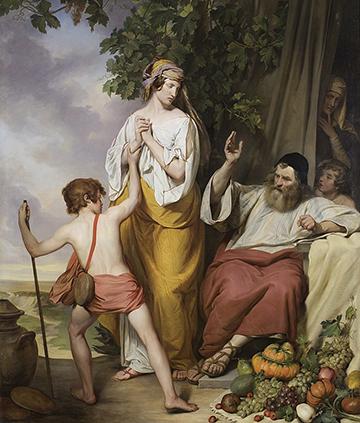 Abraham sends away Hagar and Ishmael, Josef Danhauser, 1835-1836. Wikimedia