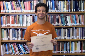 UT Junior Hazem Saleh awarded the 2018-2019 James W. Redhouse Student Prize Competition of Best Progress in the Turkish Language!