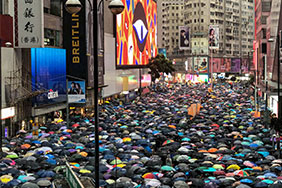 The Hong Kong people protest against the extradition bill, August 18 2019. Photo by Studio Incendo.