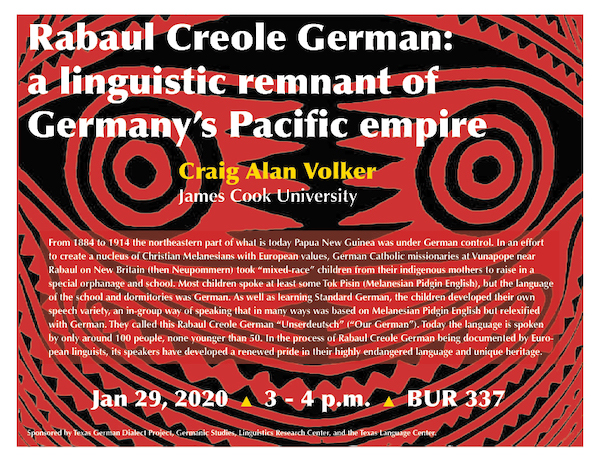 Prof. Volker talks about creole German from Papua New Guinea