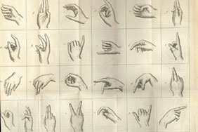 An 1803 record of the French manual alphabet. The study confirmed the influence of French Sign Language on deaf education and signing communities in the Americas.