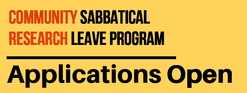 Call for Applications: 2020-2021 Community Sabbatical Research Leave Grants