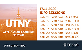 UTNY Program Deadline March 1st!