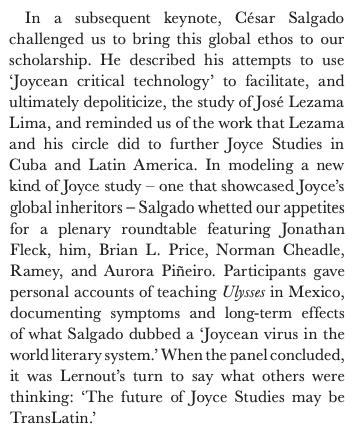 Cesar Salgado featured in The James Joyce Broadsheet and James Joyce Quarterly