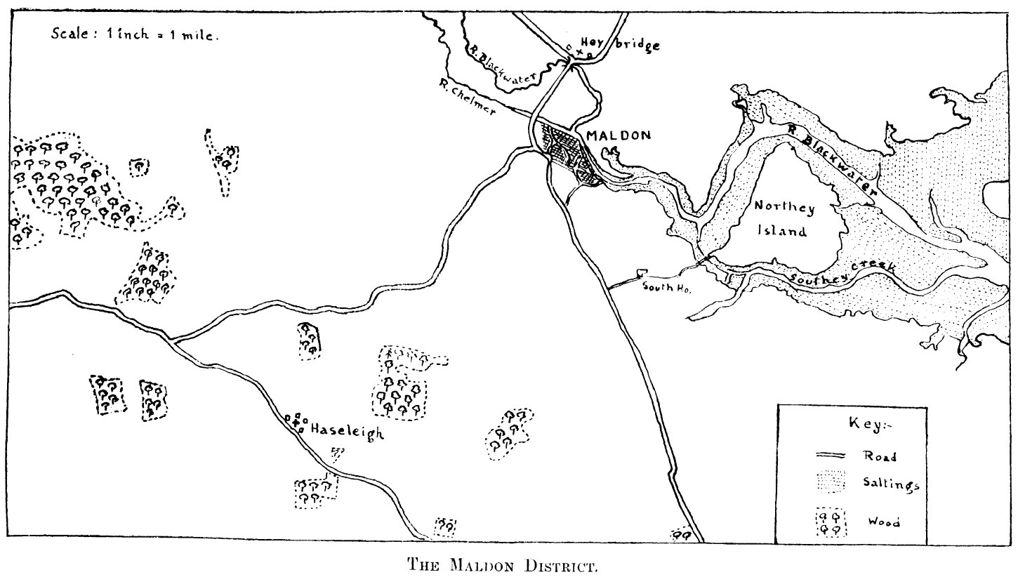 Laborde's suggestion for the site of the Battle of Maldon